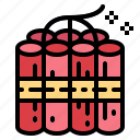 danger, dynamite, explosion, weapon icon