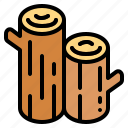 firewood, stack, trunk, wood icon