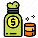 bag, banking, cultures, currency, money icon