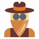 avatar, cowboy, people, profile icon