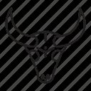 buffalo, head, bull