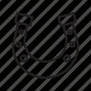 horse, horseshoe, cowboy icon