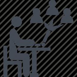 business, conversation, coworking, management, talk icon