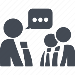 coworking, group, message, people icon
