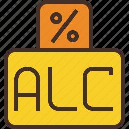 alc, alcohol, percent, percentage icon