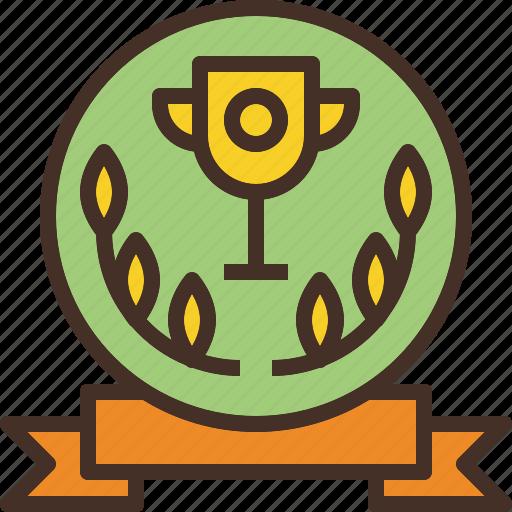 award, label, logo, premium, wreath icon