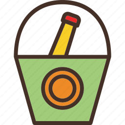 beer, bottle, bucket, chill icon