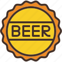 alcohol, beer, bottle, cap, drink icon