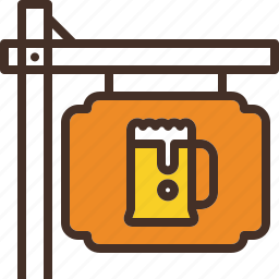 beer, place, pub, sign icon