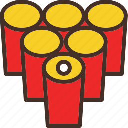 alcohol, beer, drink, game, pong icon