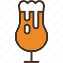 alcohol, beer, craft, glass, goblet, tulip icon