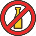 alcohol, allow, no, not, prohibit icon