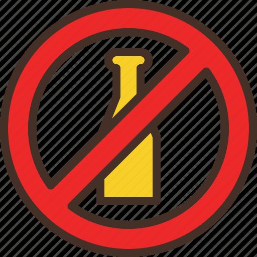 alcohol, allow, no, not, prohibit icon