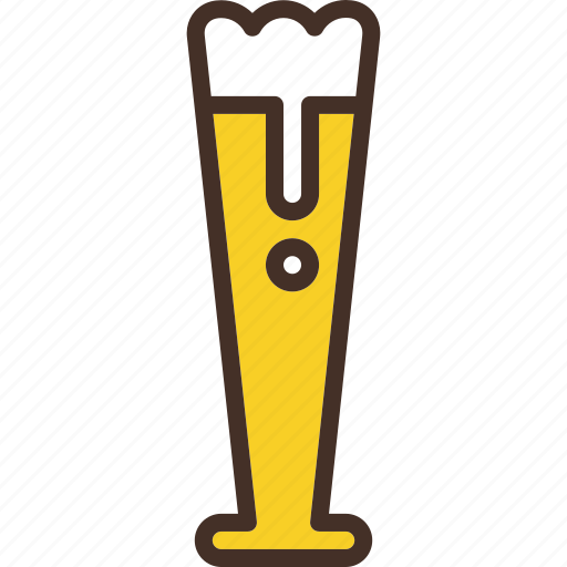 beer, craft, glass, pilsner, tall icon