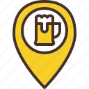beer, location, pin, place, pub icon
