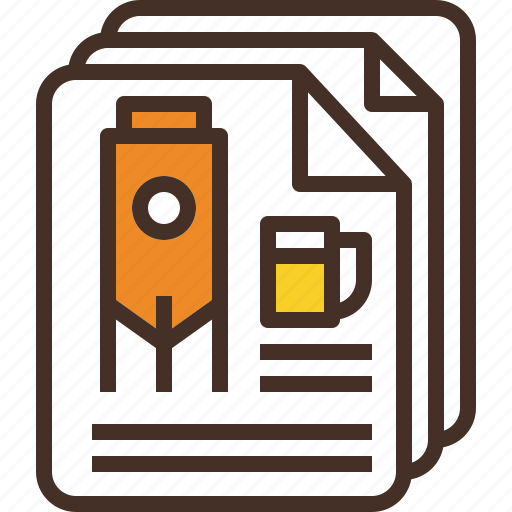 annual, chart, document, recipes, report, summary icon