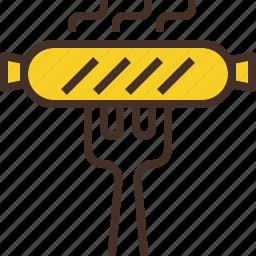brat, fork, german, sausage icon