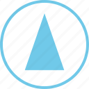 abstract, cone, creative, design, up, upload icon