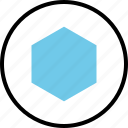 abstract, center, creative, design, hexagon icon