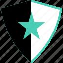 abstract, creative, design, ok, shield, star icon