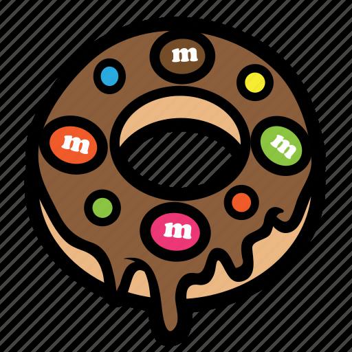 chocolate, cream, donut, doughnut, melt, strawberry icon