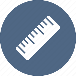 drawing, measure, ruler, straight, tool icon
