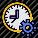 control, estimate, management, time icon