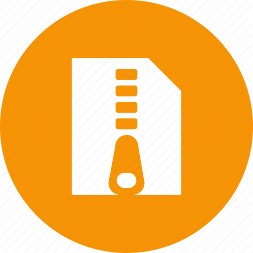 archive, compressed, document, file, zip, zipper icon