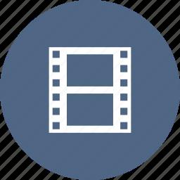 entertainment, filmstrip, footage, multimedia, reel, video icon
