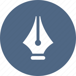 drawing, edit, fountain, pen, tip, vector, write icon