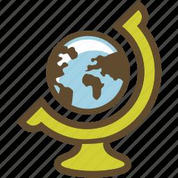 explore, globe icon