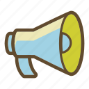 advertising, loudspeaker, marketing, megaphone, sound icon