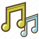 listen, music, note, song icon