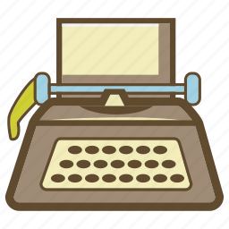 copywriter, text, type, typewriter, writer icon