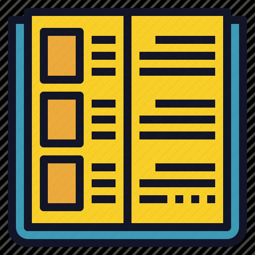 book, knowledge, open, read, science icon