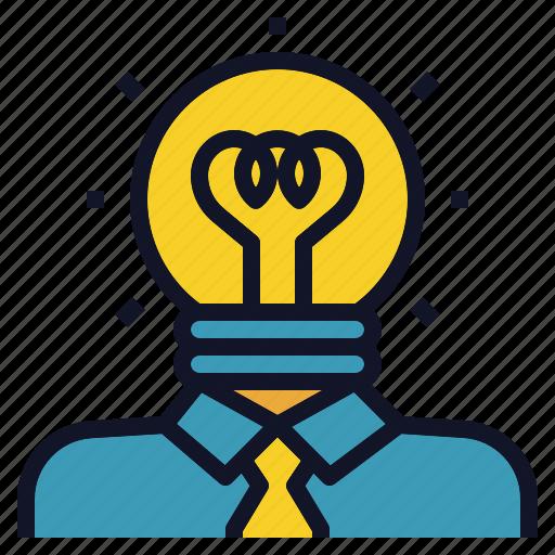 Bulb Creative Idea Light Person Thinker Icon