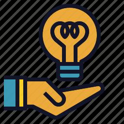 bulb, creative, give, idea, light, new icon