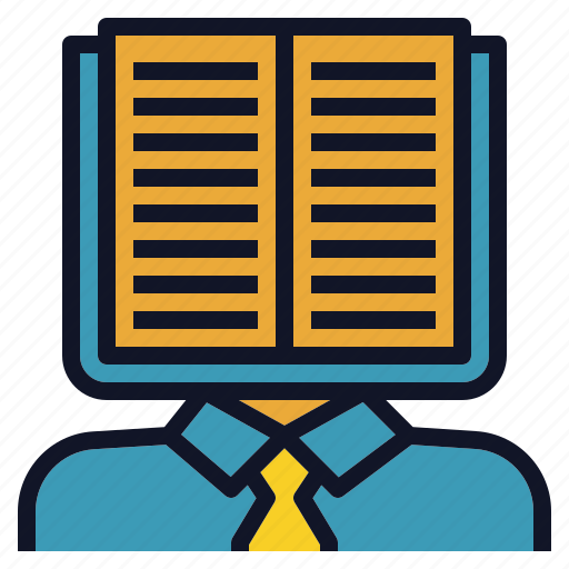 book, clever, guru, knowledge, man, smart icon