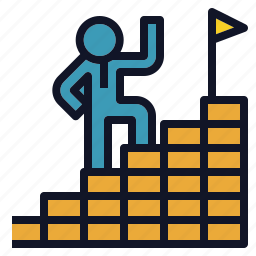 career, goal, ladder, path, success icon