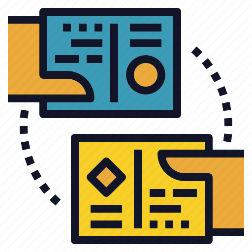 business, card, exchange, introduction, name icon