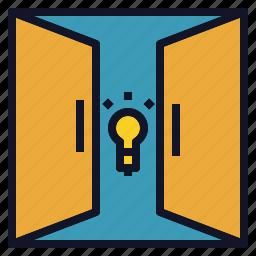door, idea, open, opportunity, welcome icon