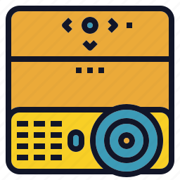lcd, overhead, presentation, projector, screen icon