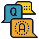 answer, ask, balloon, qa, question, speech icon