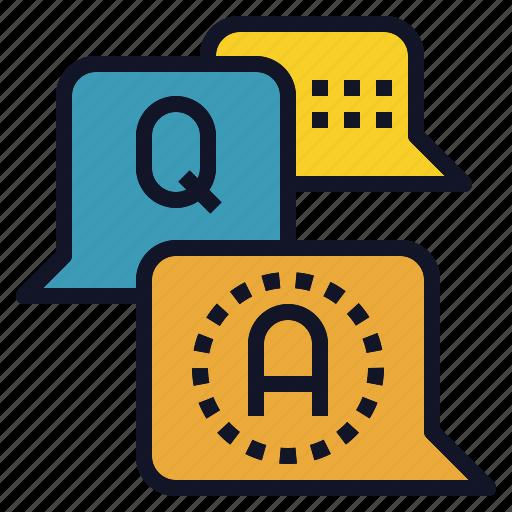 answer, ask, balloon, qa, question, speech icon