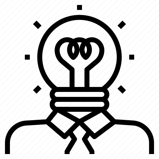 bulb, creative, idea, light, person, thinker icon
