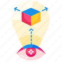 aspect, change perspective, creative, different, mindset, point of view, pov icon