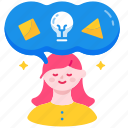 creative, creativity, idea, imagination, imagine, inspiration, mindset icon
