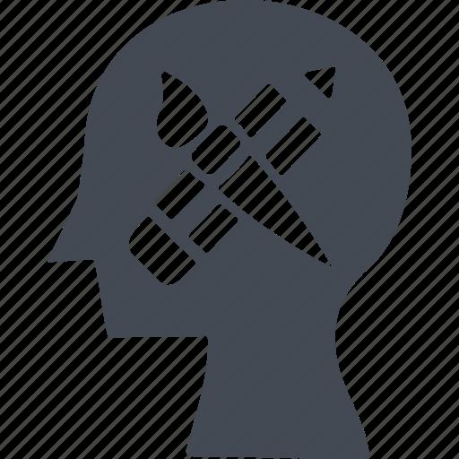 creative, creative idea, creative process, head icon