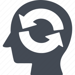creative process, head, idea, thinking icon