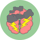 brain storm, cloud, thunder icon